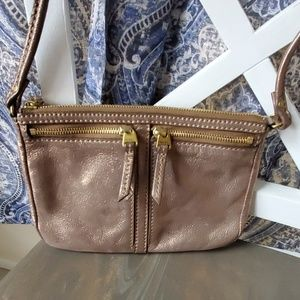 Bronze/gold shimmer  crossbody bag